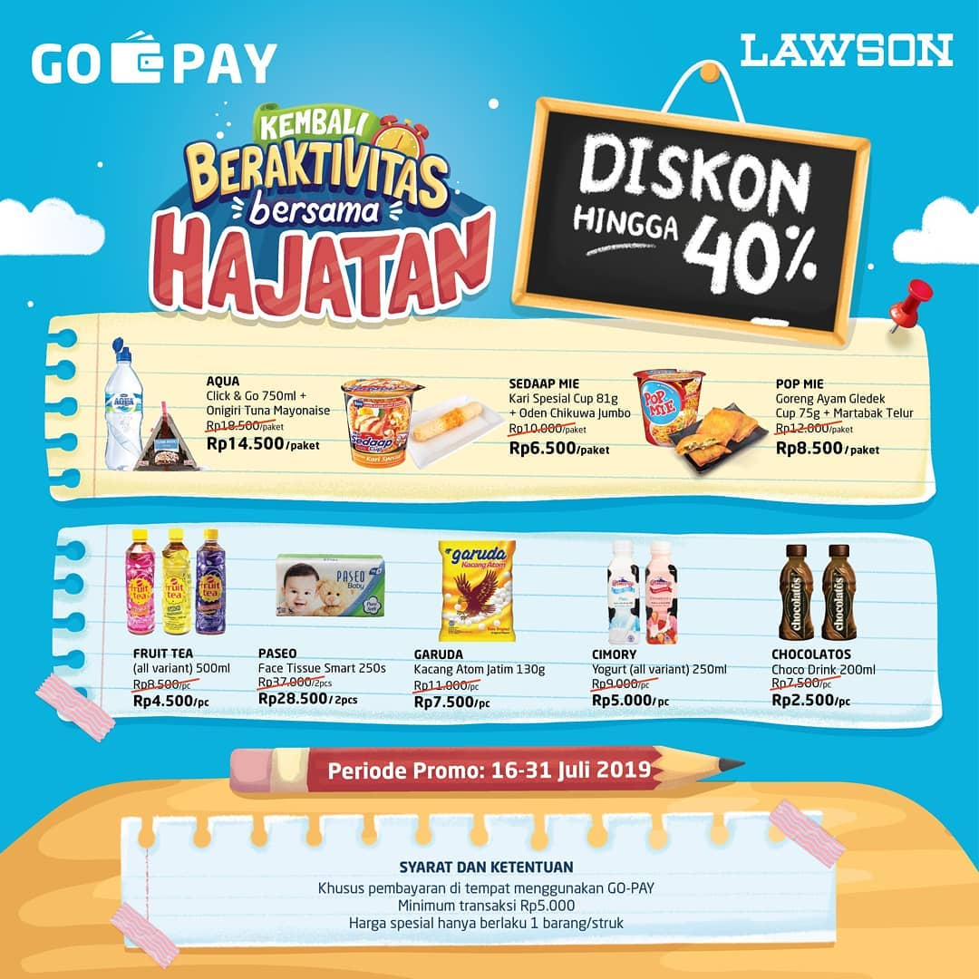 Diskon LAWSON Promo Harga Spesial dengan GOPAY