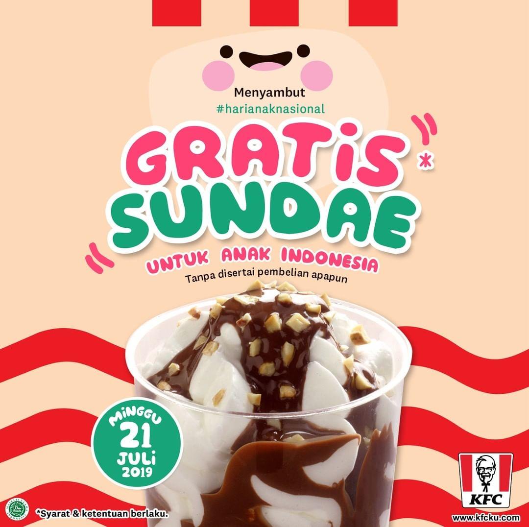 KFC Promo GRATIS Sundae!