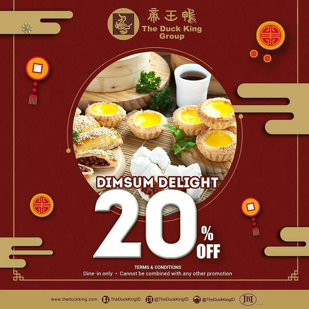 The Duck King Diskon 20% Semua Dimsum