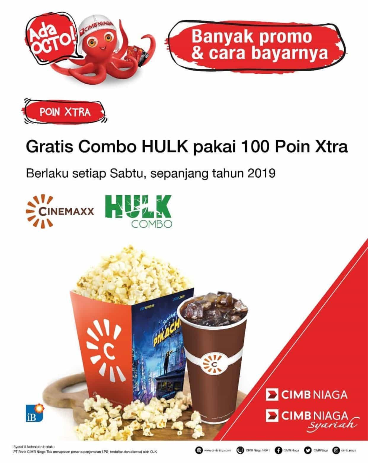CINEMAXX Promo GRATIS Combo Hulk