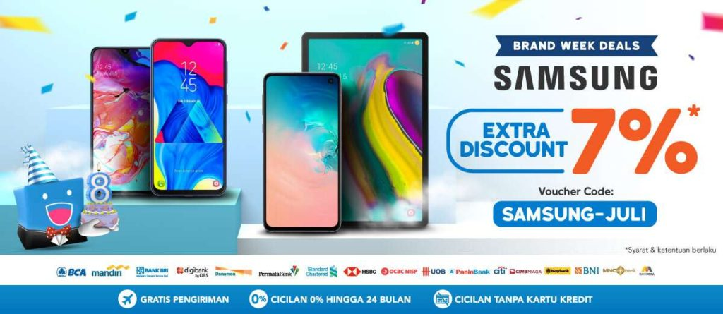 BLIBLI.COM Promo SAMSUNG Extra Discount 7%*!