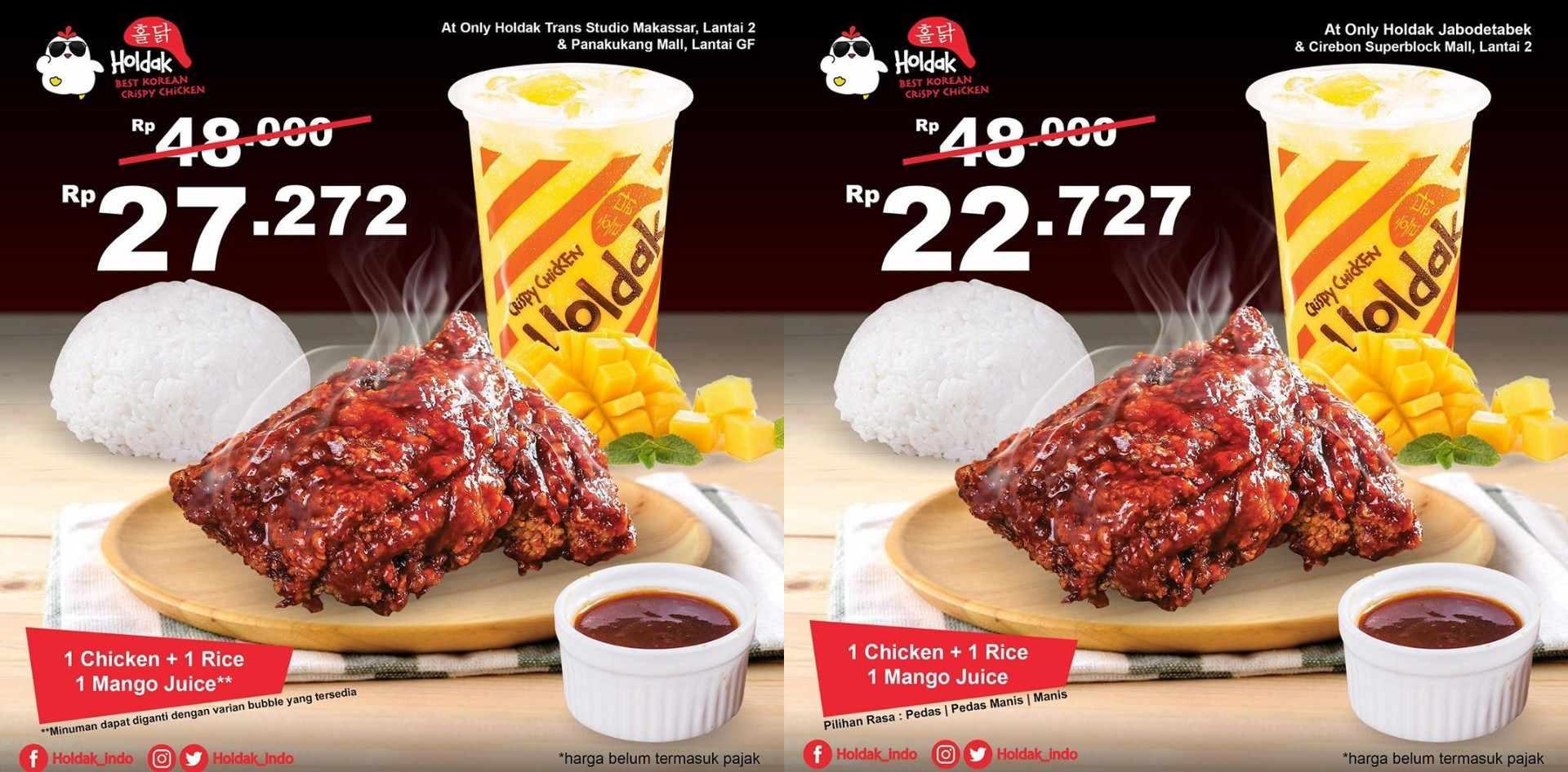 Diskon HOLDAK Crispy Chicken Promo mulai Rp.22.727