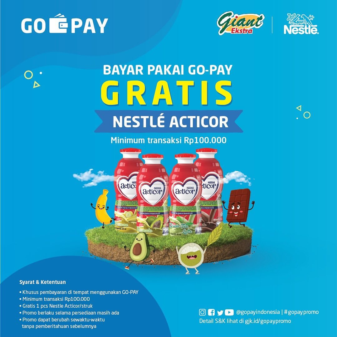Diskon GIANT Promo GRATIS Nestle Acticor*