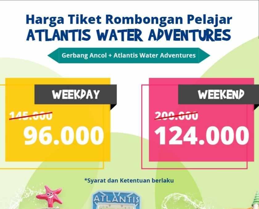 Diskon Atlantis Water Adventure Promo untuk Rombongan Pelajar