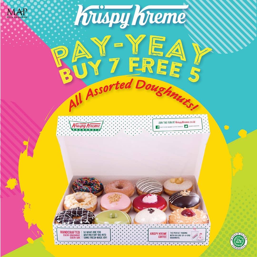 Diskon KRISPY KREME Promo PAY-YEAY Buy 7 Free 5*