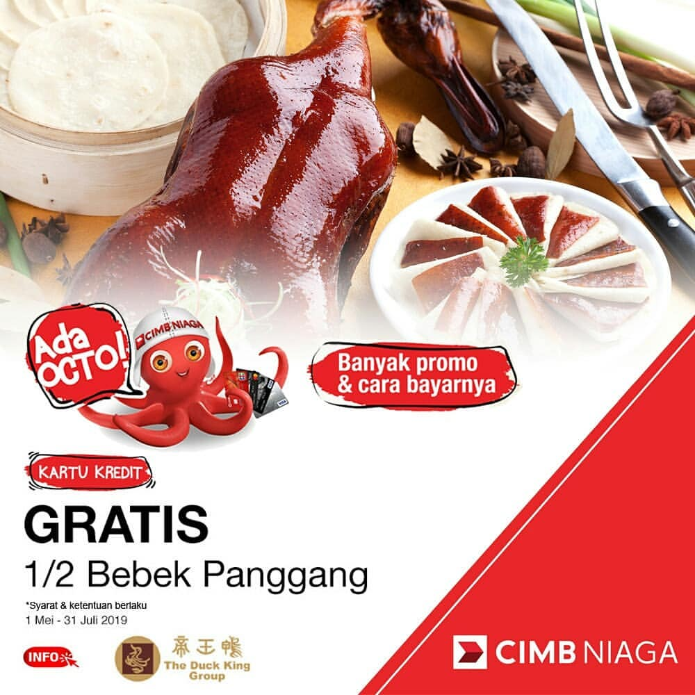 The Duck King Promo GRATIS 1 per 2 Bebek Panggang*!