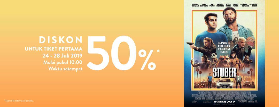 Diskon TIX ID Promo Diskon 50% Tiket Film STUBER