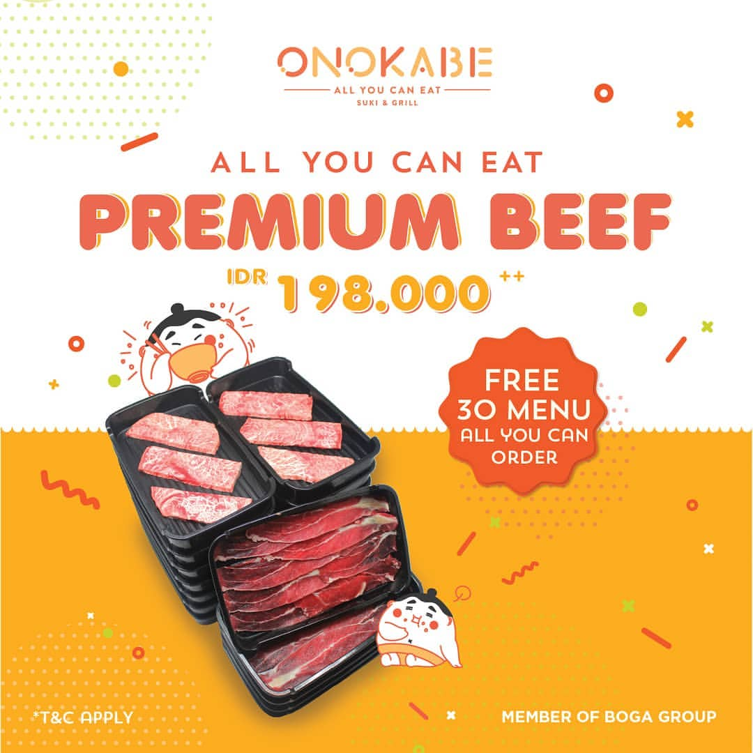 Onokabe Promo Harga Spesial ALL YOU CAN EAT