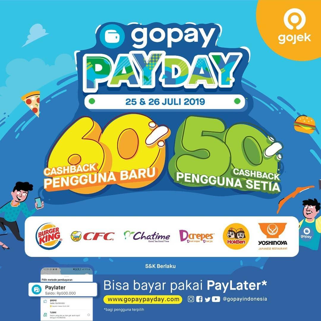 GO-PAY PAYDAY Promo CASHBACK hingga 60%!!