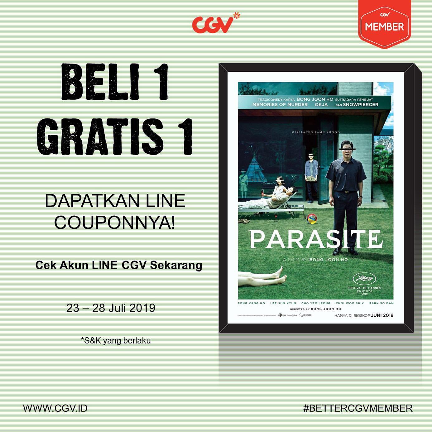 CGV Cinemas Promo Beli 1 Gratis 1*