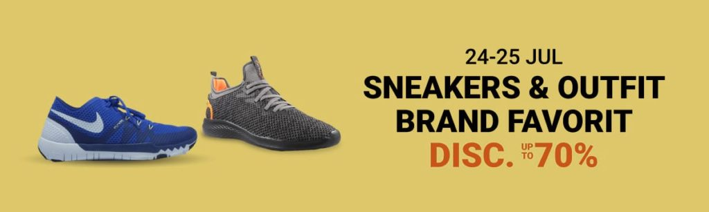 SHOPEE.CO.ID Promo SNEAKERS & OUTFIT up to 70%!