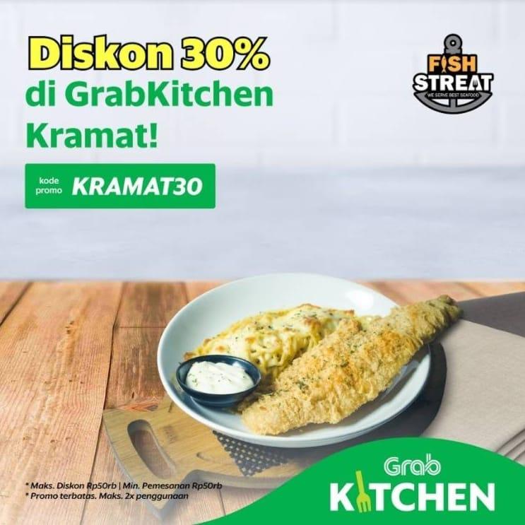 FISH STREAT Promo Diskon 30% di GrabKitchen