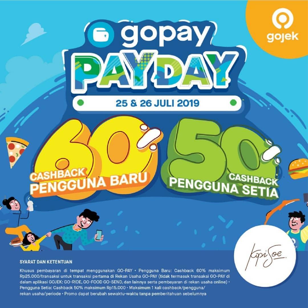 KOPI SOE Promo GOPAY PAYDAY, Cashback up to 60%!