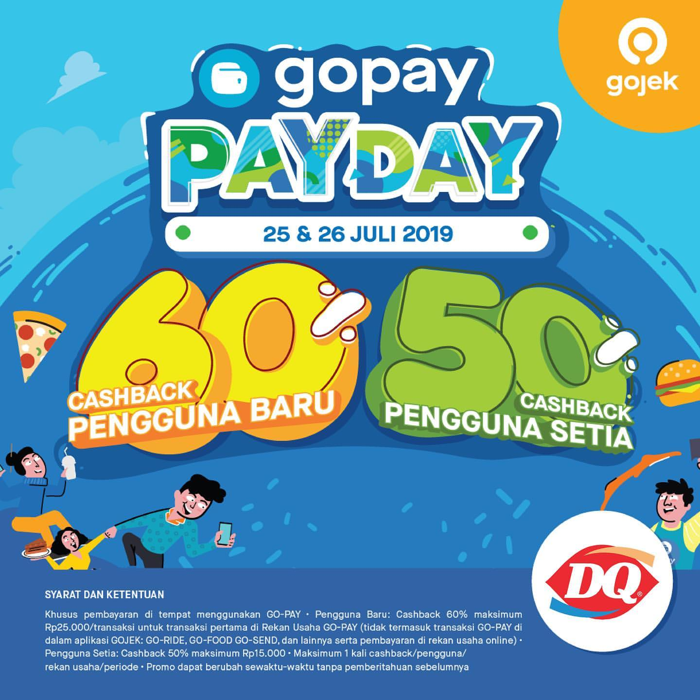 Diskon Dairy Queen Promo GOPAY PAYDAY, Cashback up to 60%!