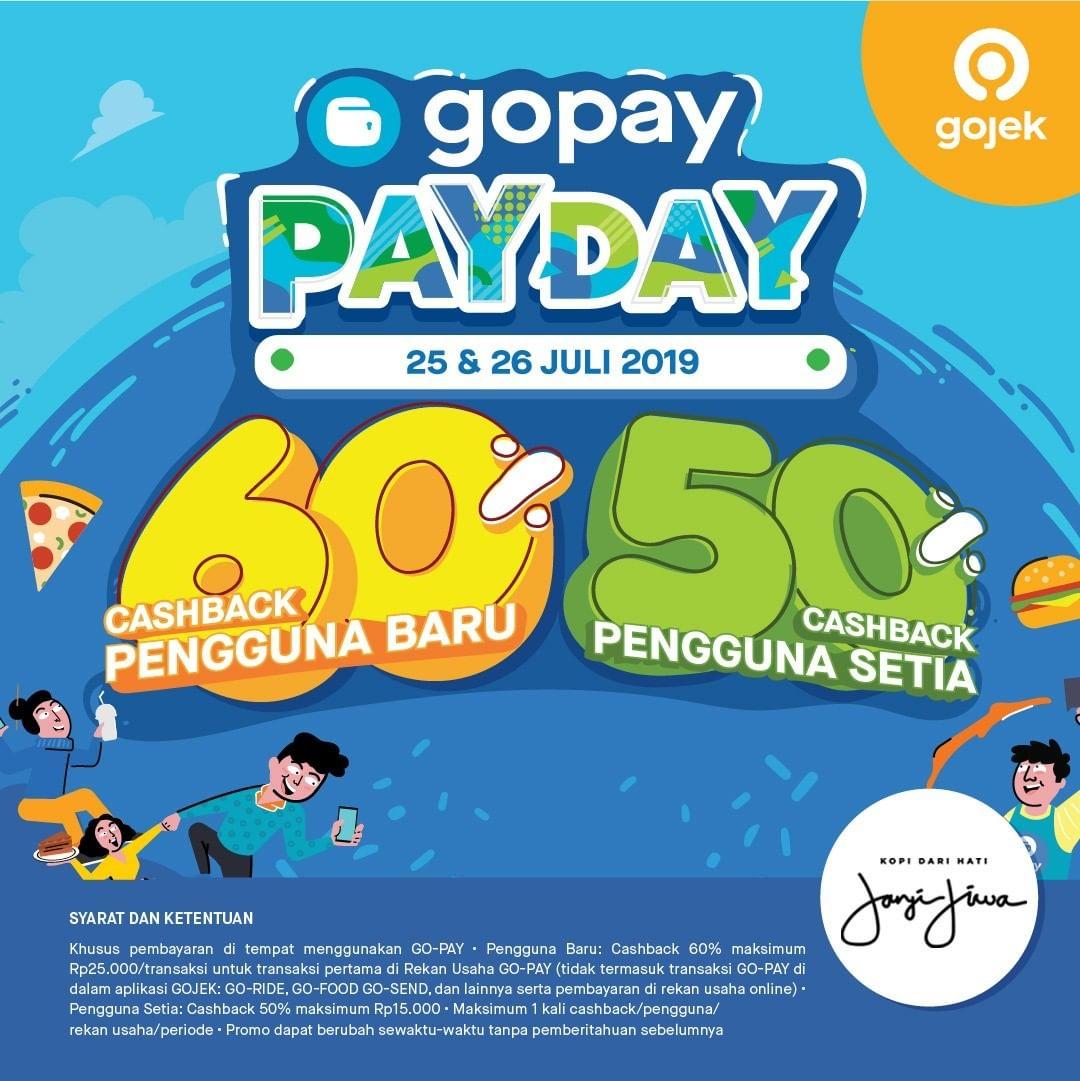 Kopi Janji Jiwa Promo GOPAY PAYDAY, Cashback up to 60%!