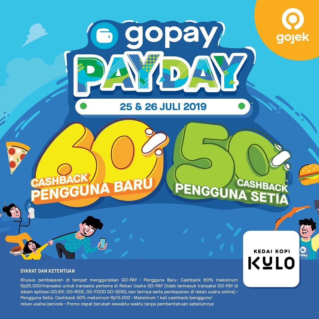 Kedai Kopi Kulo Promo GOPAY PAYDAY, Cashback up to 60%!