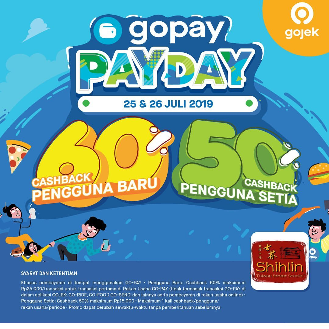 Diskon SHIHLIN Promo GOPAY PAYDAY, Cashback up to 60%!