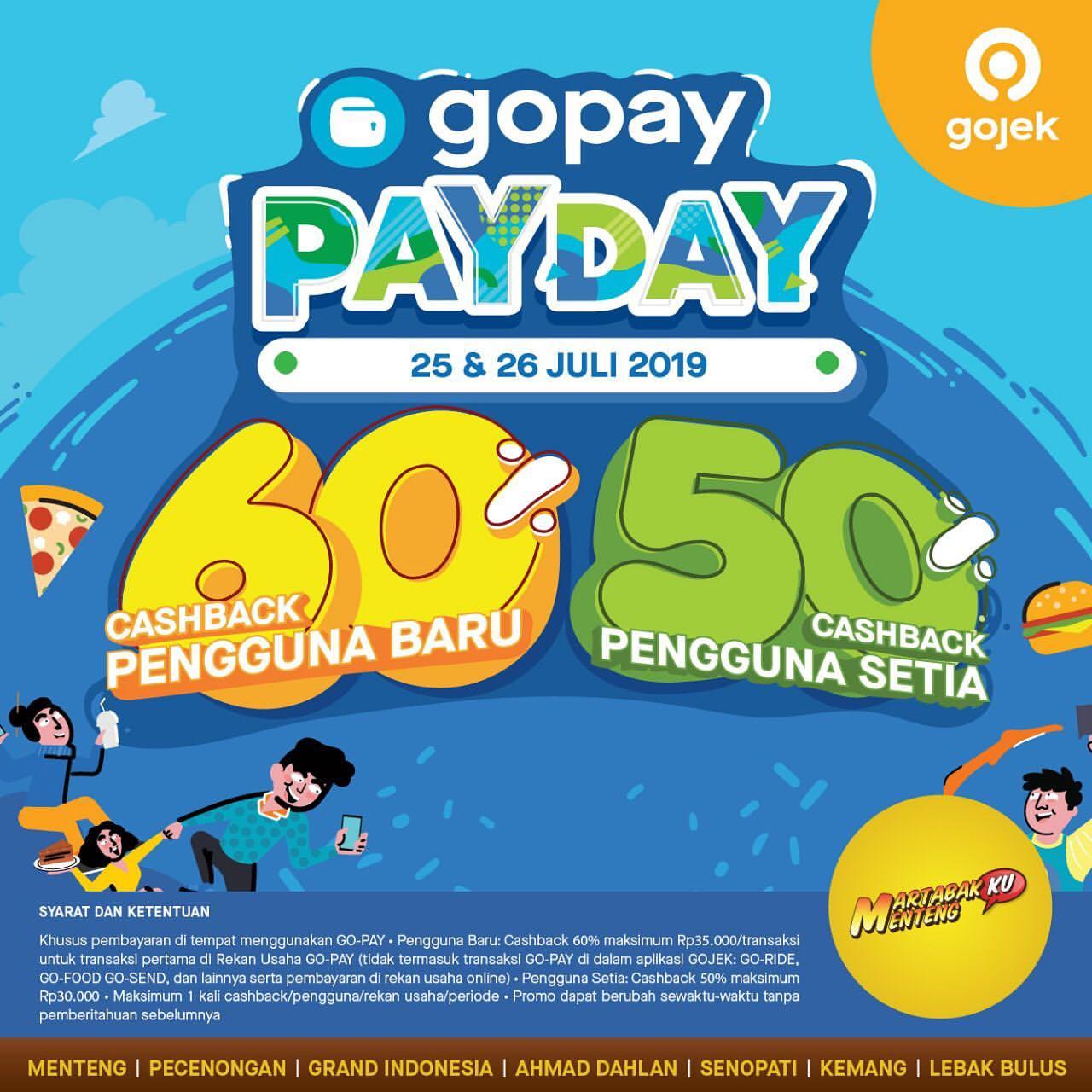 Martabakku Menteng Promo GOPAY PAYDAY, Cashback up to 60%!
