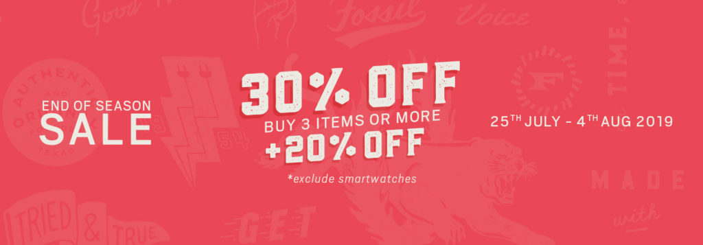 FOSSIL END OF SEASON SALE!