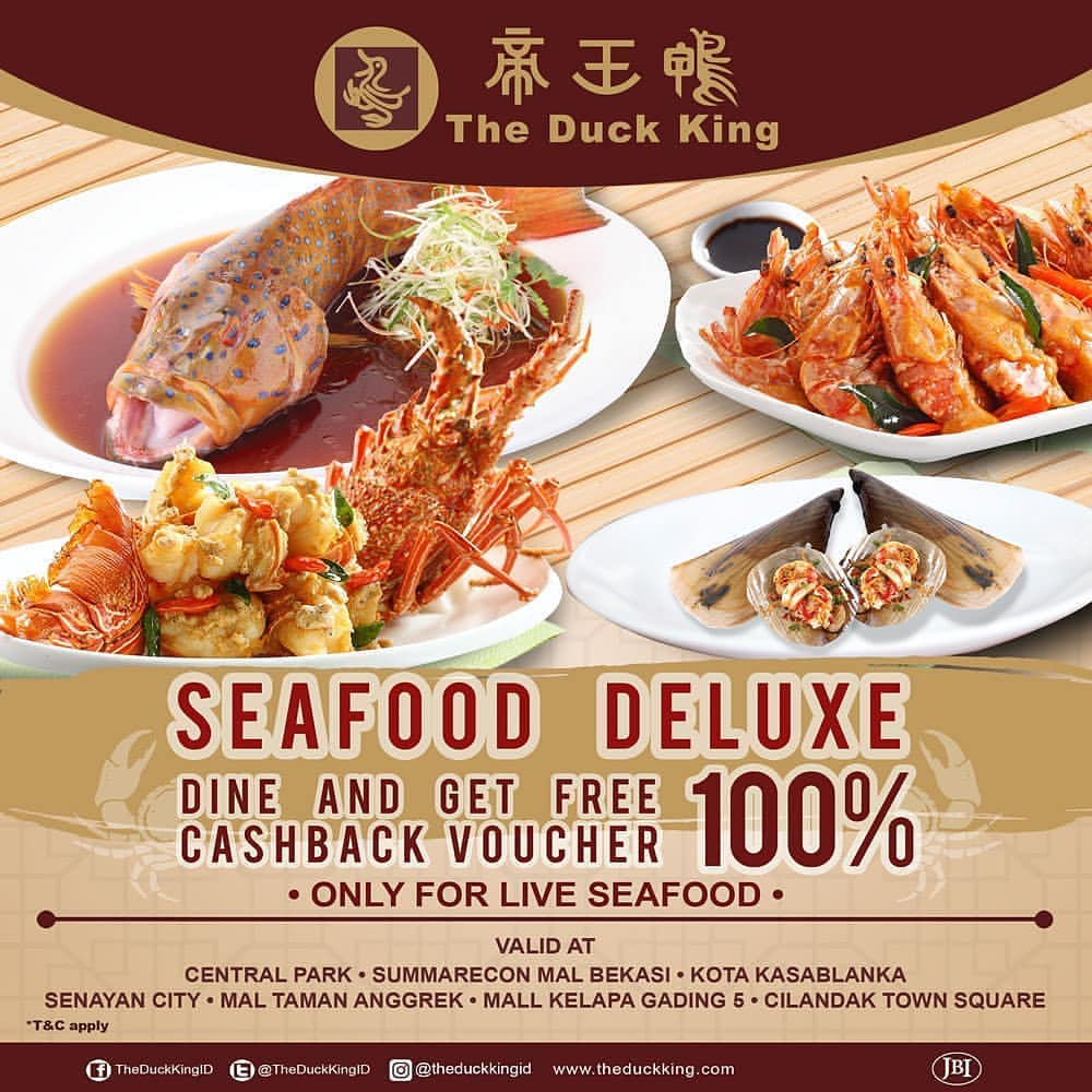 Diskon  THE DUCK KING Promo Cashback Voucher 100%