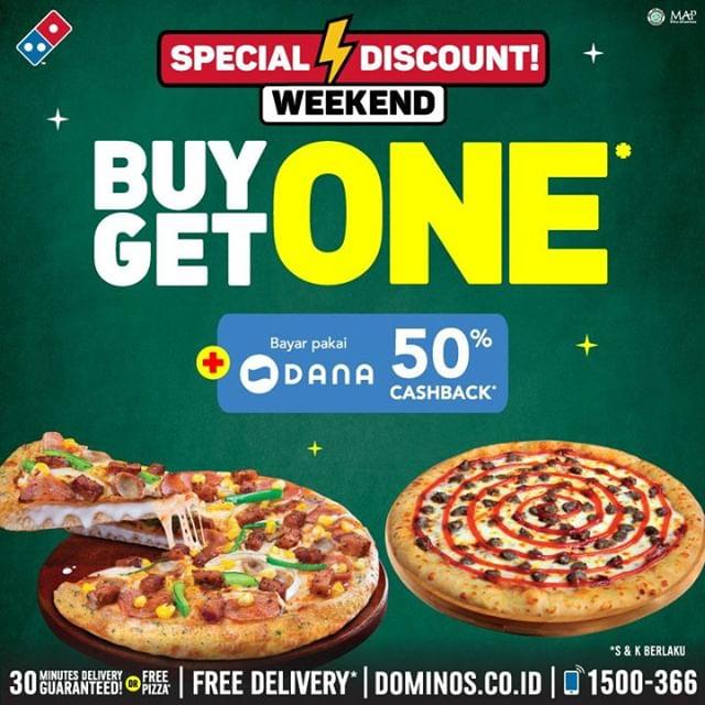 Diskon DOMINO'S PIZZA, Beli 1 GRATIS 1*