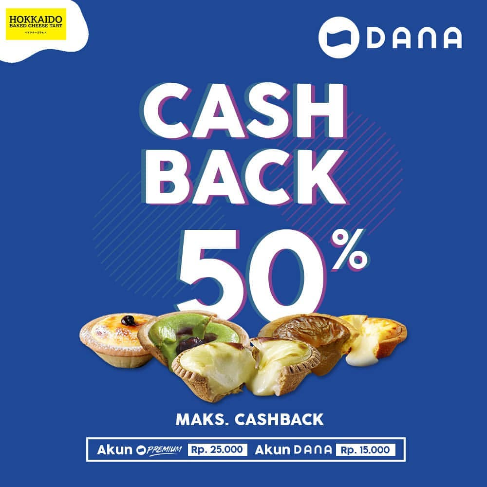 HOKKAIDO Promo CASHBACK 50% dengan DANA