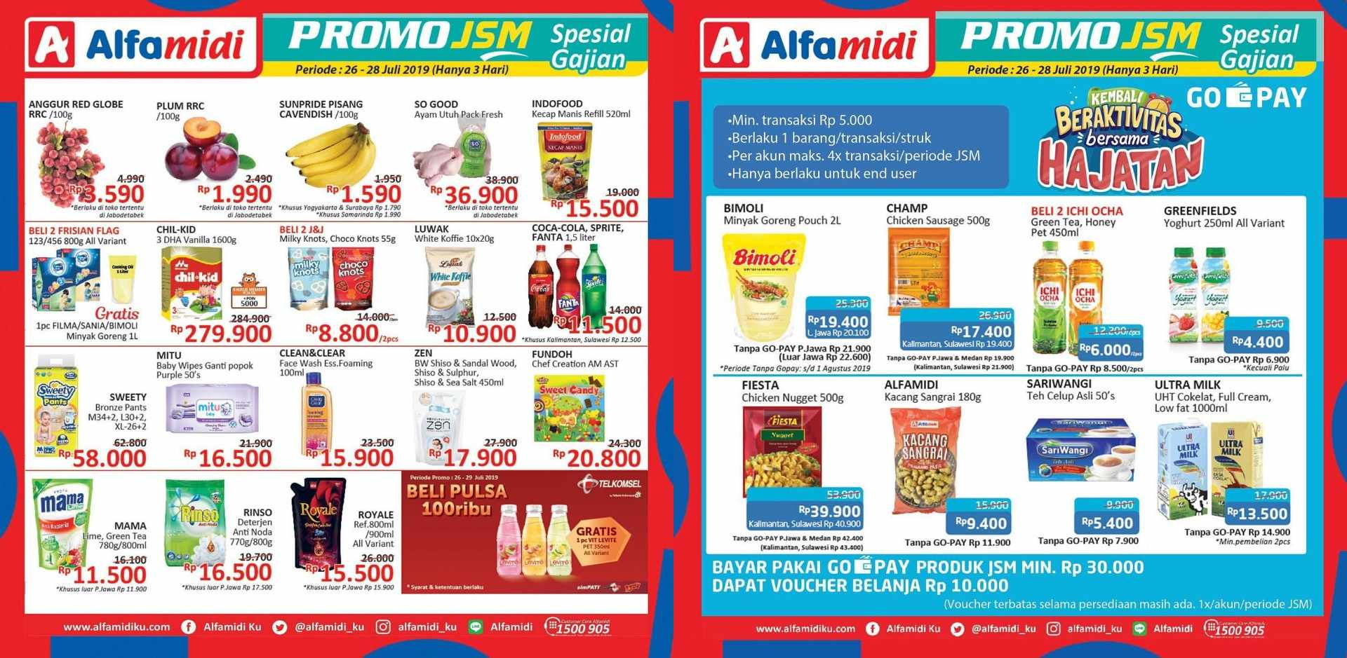Diskon Katalog ALFAMIDI Promo Weekend periode 26-28 Juli 2019