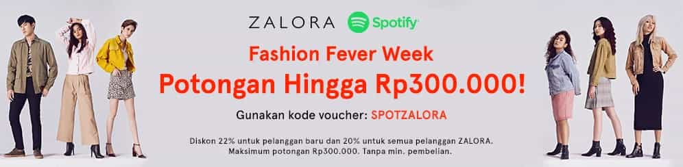 Zalora Promo Fashion Fever Week Spesial!
