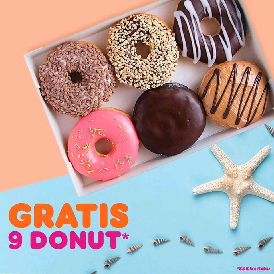 Dunkin Donuts Promo Payday, Buy 9 Get 9 Free!