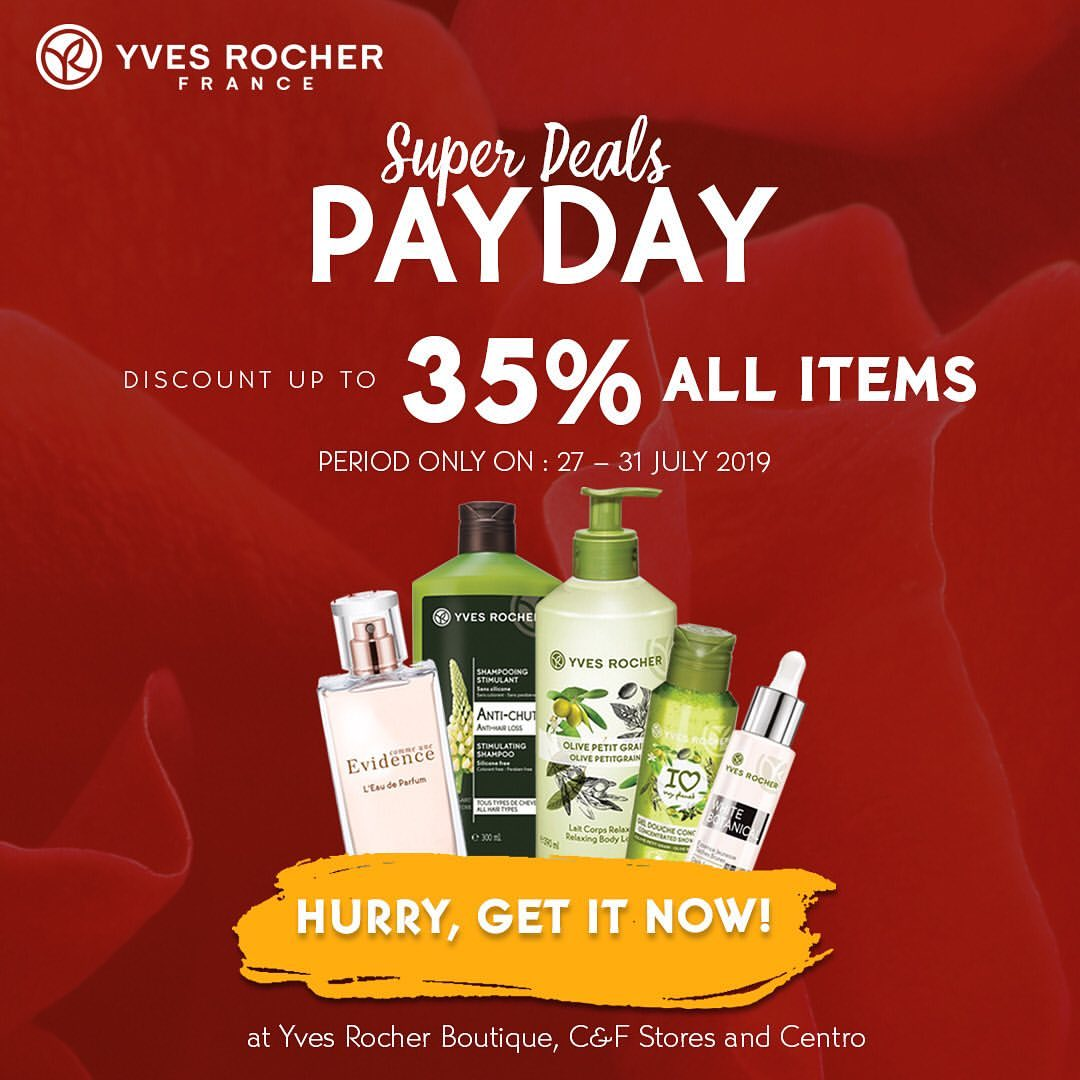YVES ROCHER PAYDAY SUPER DEALS!