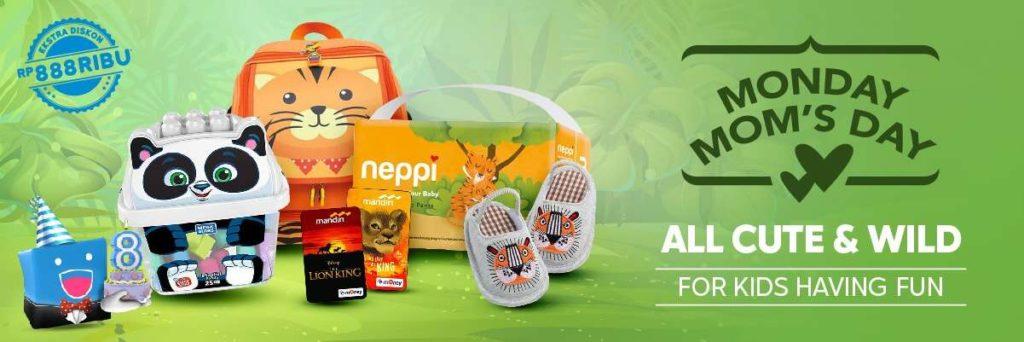 Diskon BLIBLI.COM Extra Diskon up to 20% hingga Rp.888.000 untuk produk Ibu & Anak!