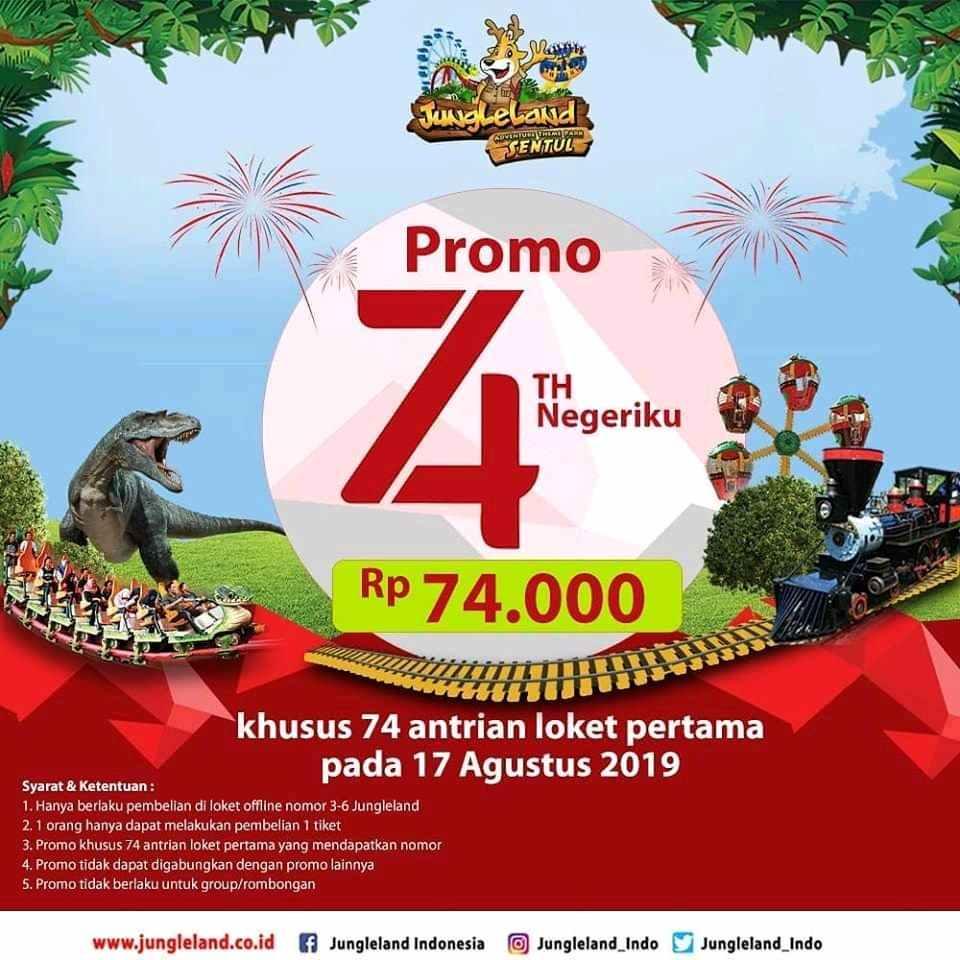 Diskon Jungleland Promo Merdeka, HTM Cuma Rp.74 Ribuan!