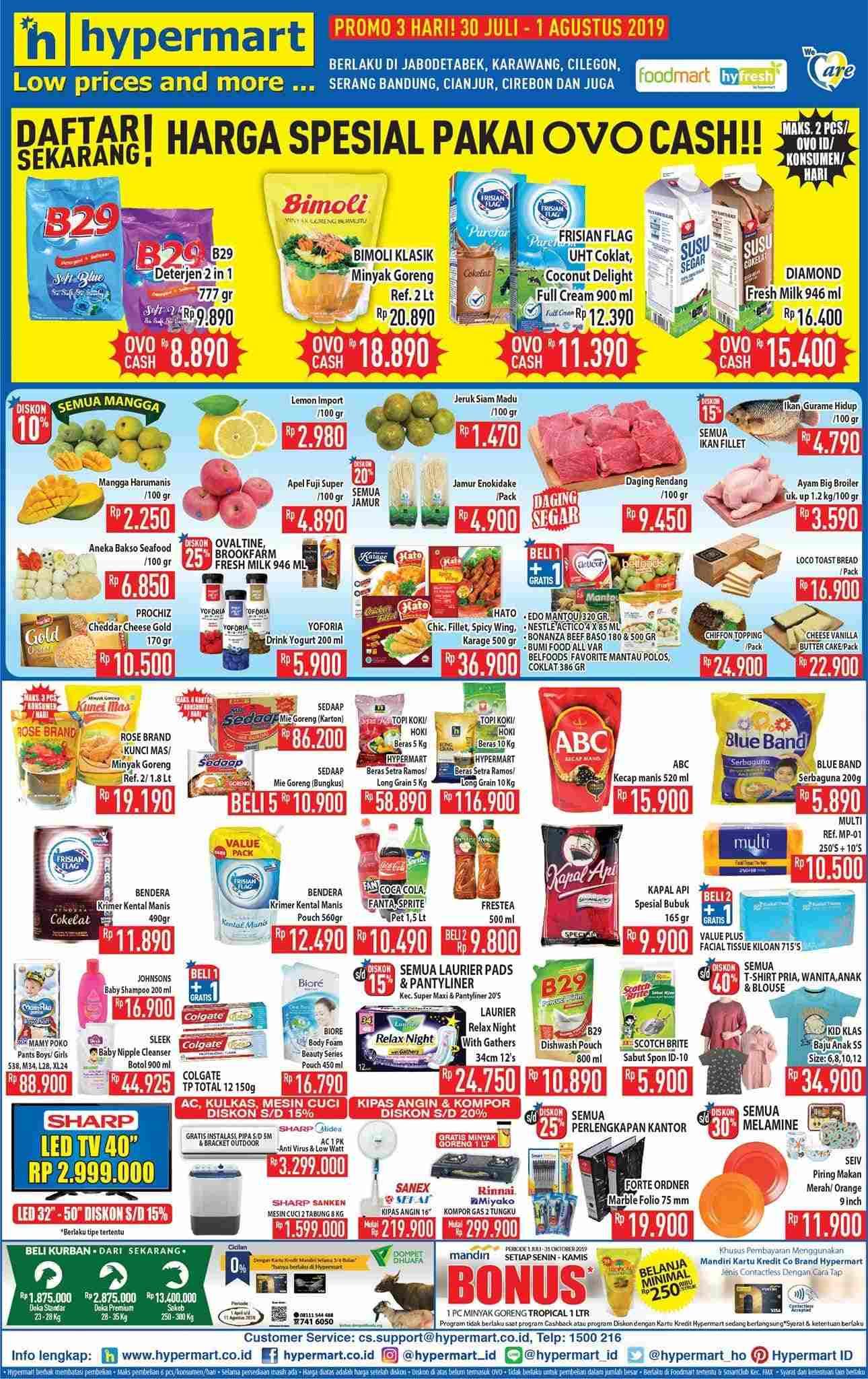 Katalog Promo HYPERMART periode 30 Juli – 01 Agustus 2019