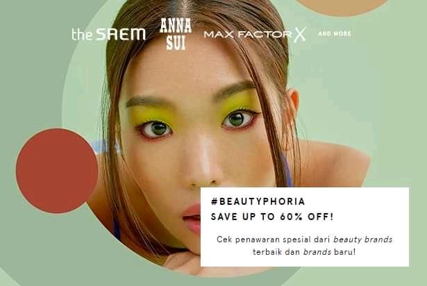 Zalora Promo Beautyphoria Diskon Hingga 60%