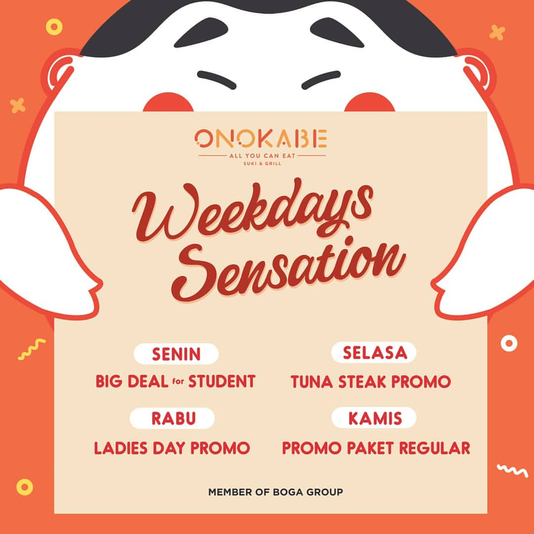 Diskon ONOKABE WEEKDAYS SENSATION