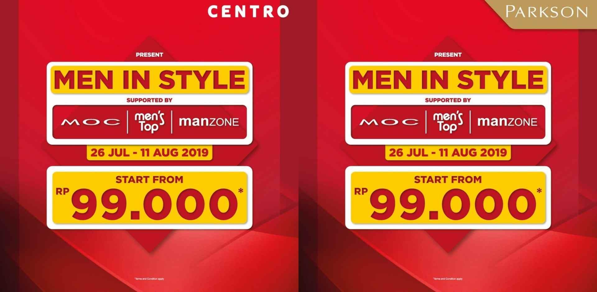 CENTRO dan PARKSON Promo Harga Spesial mulai Rp.99.000
