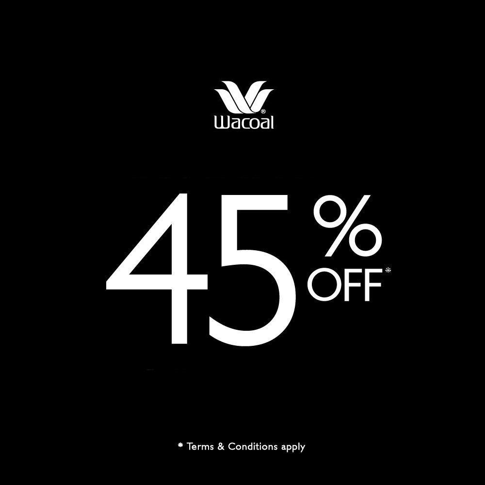 WACOAL Promo Discount 45%