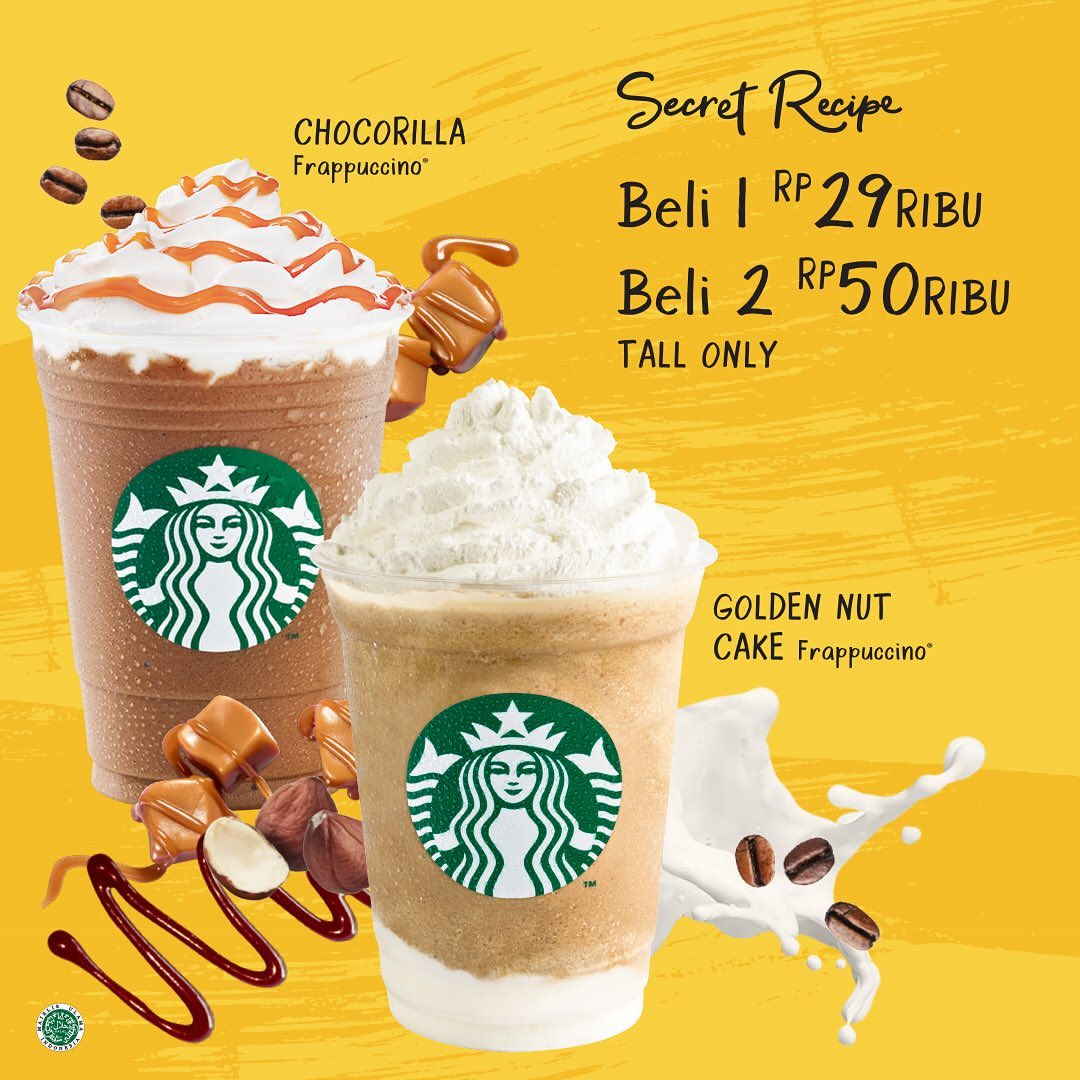 STARBUCKS Secret Recipe, Buy 2 Rp.50.000