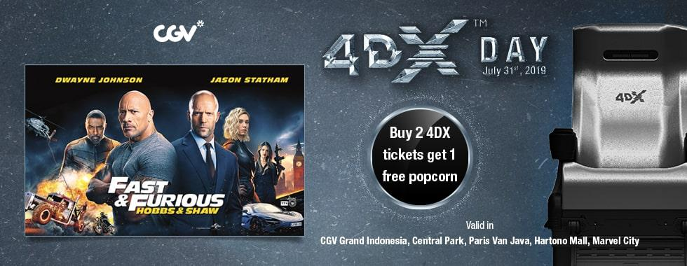 CGV Cinema Promo Buy 2 Ticket 4DX, Free Popcorn