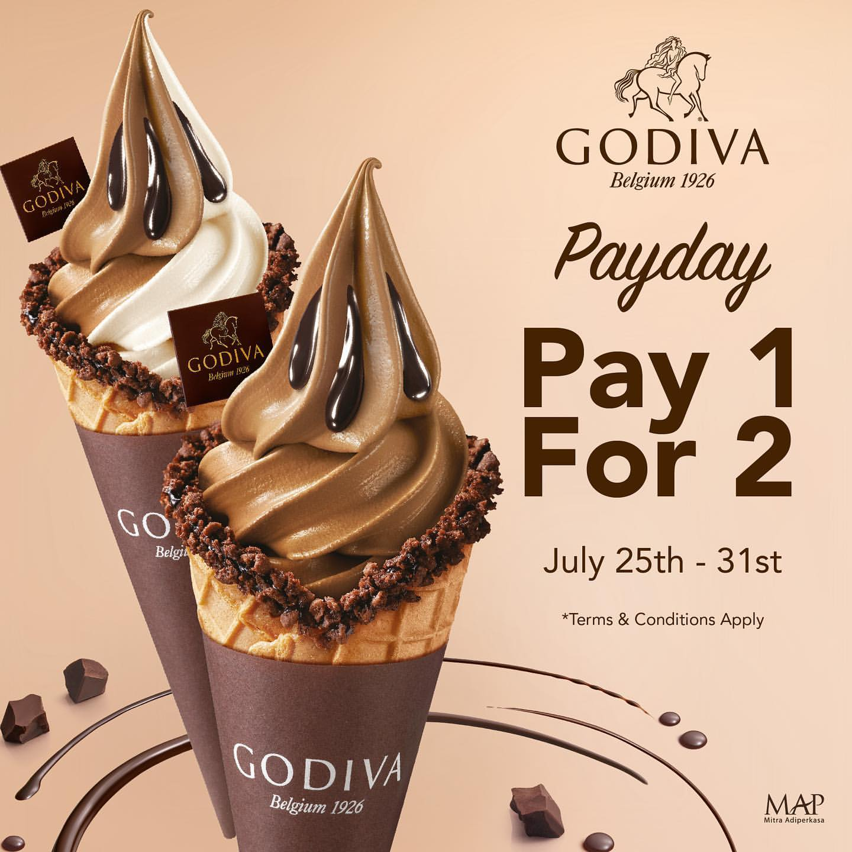 GODIVA BELGIUM Promo Payday Pay 1 For 2*
