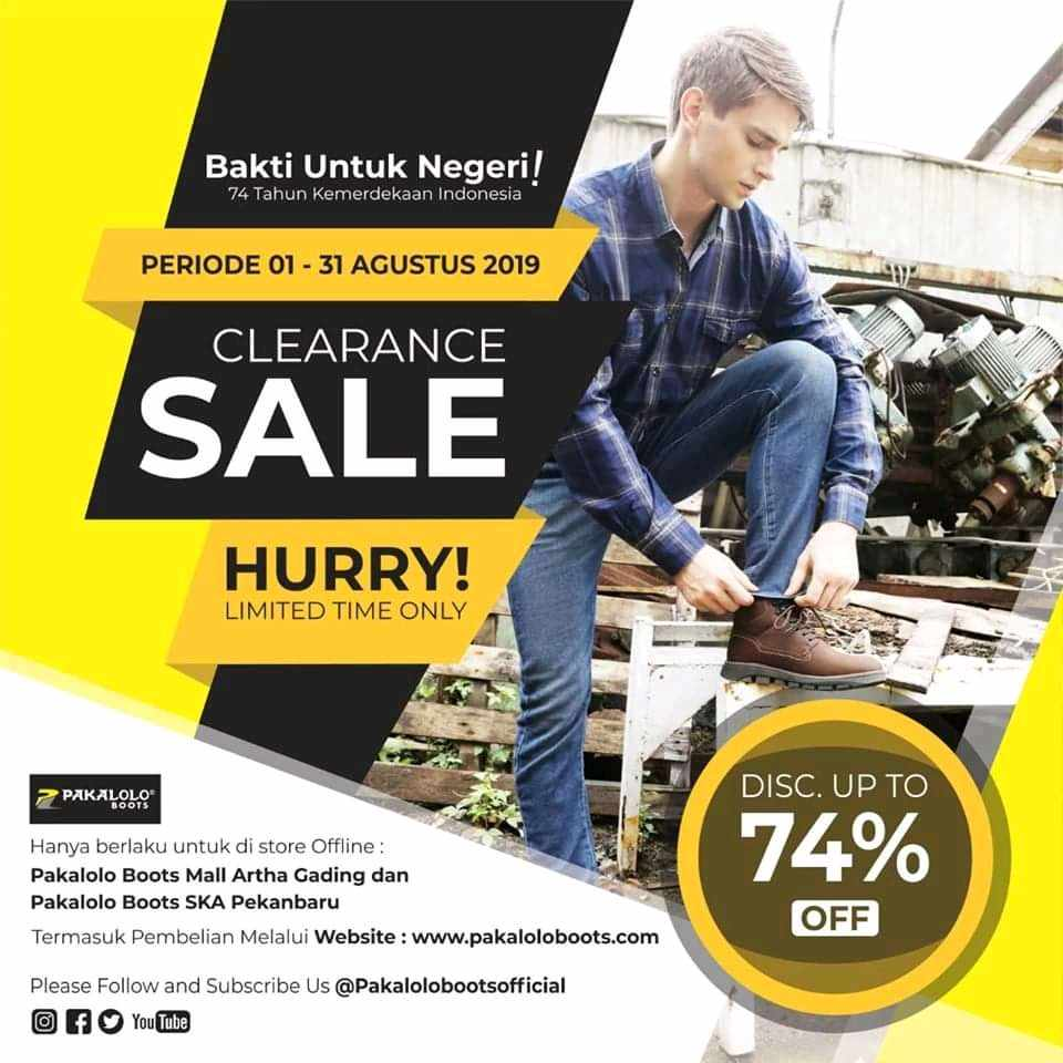 Pakalolo Boots Promo Merdeka, Diskon Hingga 74%!