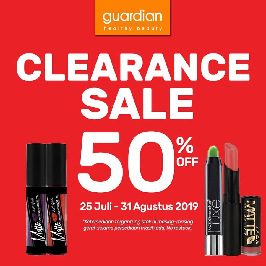 GUARDIAN LIPSTICK CLEARANCE SALE up to 50% off
