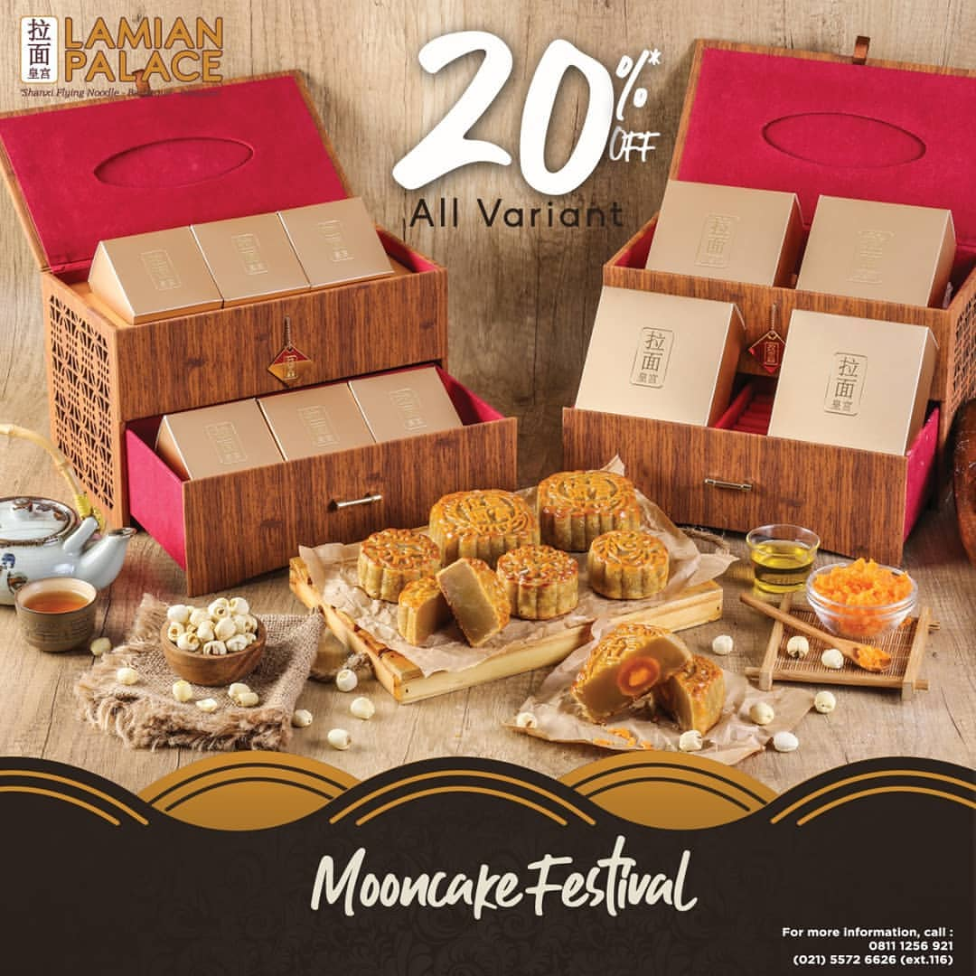 LAMIAN PALACE MOONCAKE FESTIVAL DISCOUNT 20%