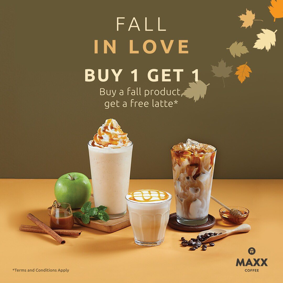 MAXX COFFEE Promo Buy 1 Get 1 Free Latte*