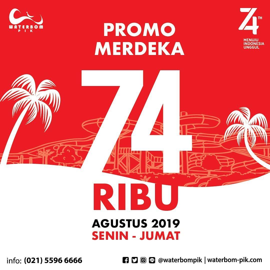 WATERBOM PIK JAKARTA Promo MERDEKA Hanya Rp.74.000 per tiket