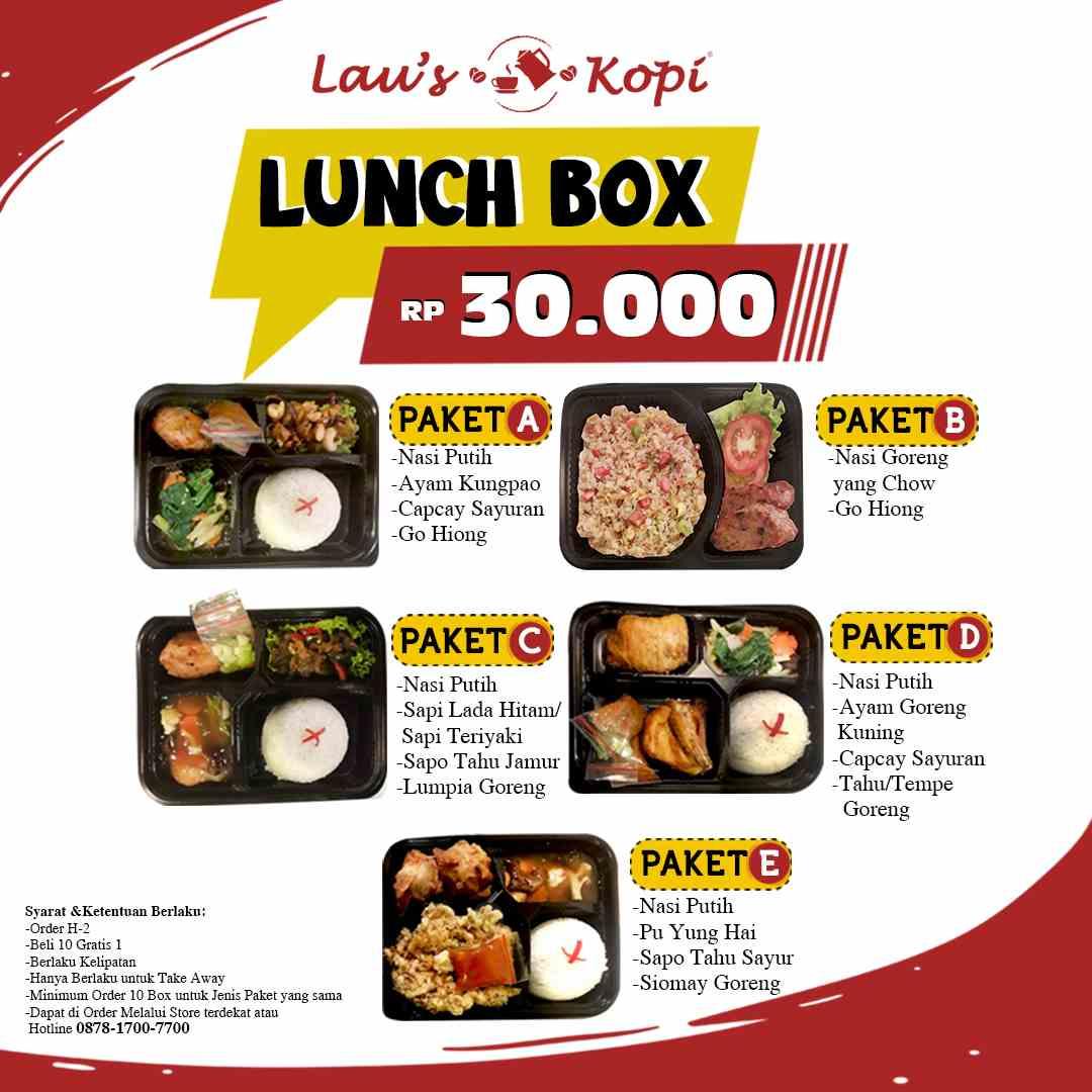 LAU'S KOPI Promo LUNCH BOX HANYA Rp.30.000
