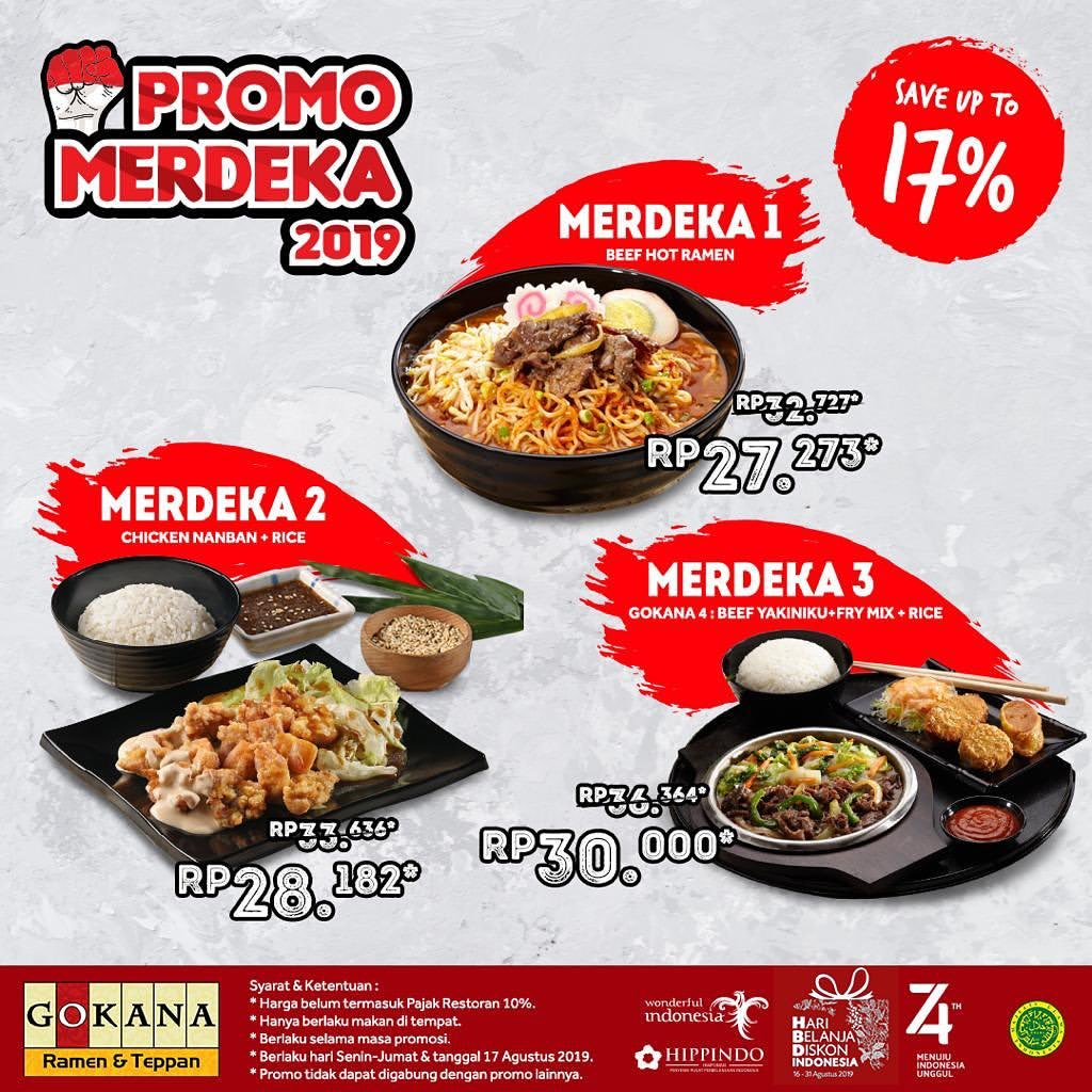 GOKANA Promo MERDEKA, Save Up to 17%