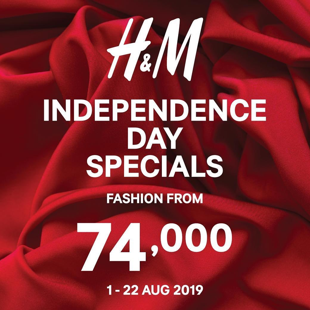 H&M INDEPENDENCE DAY SPECIAL harga mulai Rp.74.000