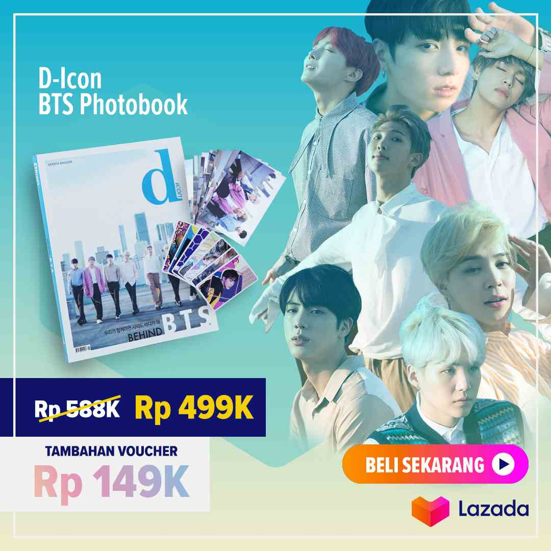 LAZADA.CO.ID Promo D-Icon BTS Photobook, Only Rp 499.000 + Voucher Rp 149.000!