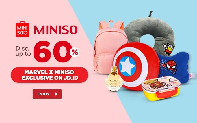 JD.ID Promo MARVEL X MINISO, Disc up to 60%!